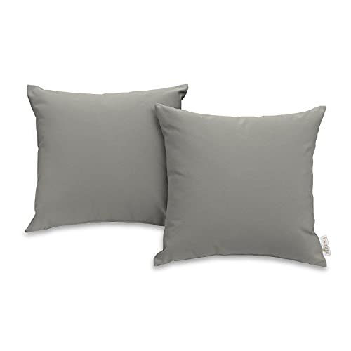 Pizuna 400-Thread-Count-Cotton-Large-Cushion-Covers 70cm x 70cm Silver, 100% Long Staple Cotton Soft Sateen Large Cushion Covers 2pc for Sofa Living Room & Bedroom (100% Cotton Cushion Covers)
