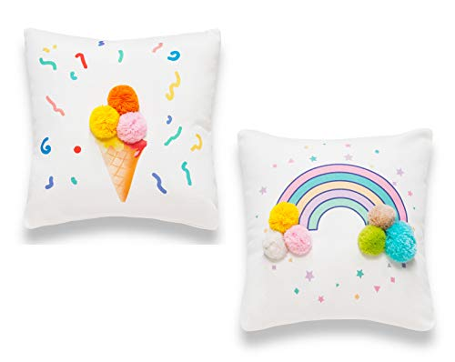 Sancarlos Rainbow Cushion Covers 35x35cm (14'x14') - Pack of 2