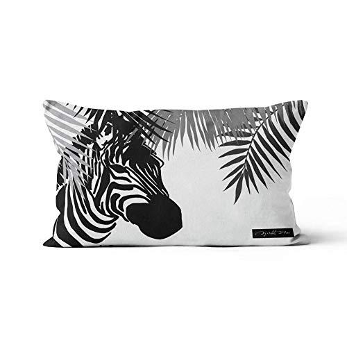 Soleil d'ocre Zebra Cushion Cover Polyester 32 x 50 cm Black