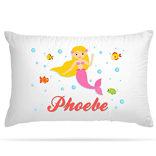 Shopsharks PERSONALISED Cushion Cover Pillow Case Kids Mermaid Gift for Girls Bedroom (107)
