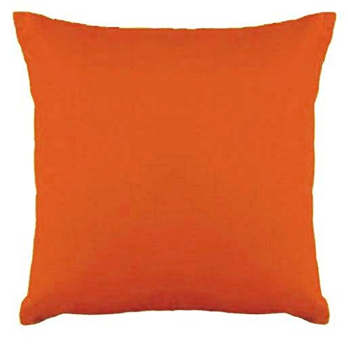 Saffron Floor Cushion Cover Decorative Extra Large Pillowcase Orange 32x32 inch (80x80 cm) Cotton Removable COVER, Insert not included