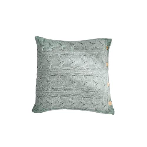 Freedomanoth Knitted Cushion Cover with Zip Christmas Cushion Cover Bedroom Home Decor 45 x 45 cm 17.72 x 17.72 in Cyan blue