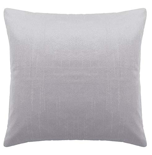 Saffron Floor Cushion Cover Decorative Extra Large Pillowcase Grey 32x32 inch (80x80 cm) Polyester Plain Solid Removable COVER, Insert not included