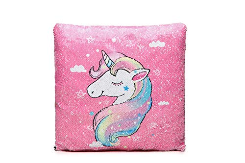 LeahWard Unicorn Sequin Pillow Cover Cushion Case Magic Kids Girls Hot Xmas Gift (Unicorn 28)