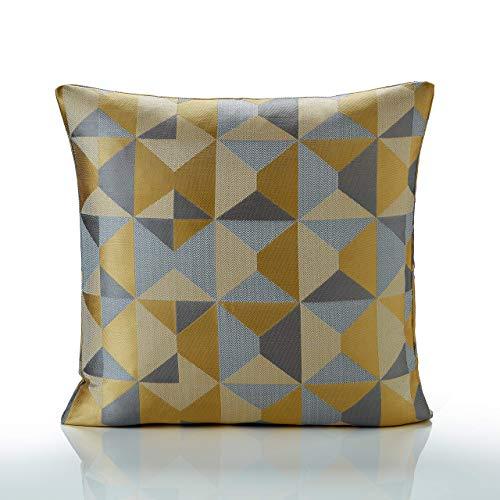 Alan Symonds Skandi Multi Weave Jacquard Cushion Cover (Ochre, 22' x 22' (55 x 55cm))