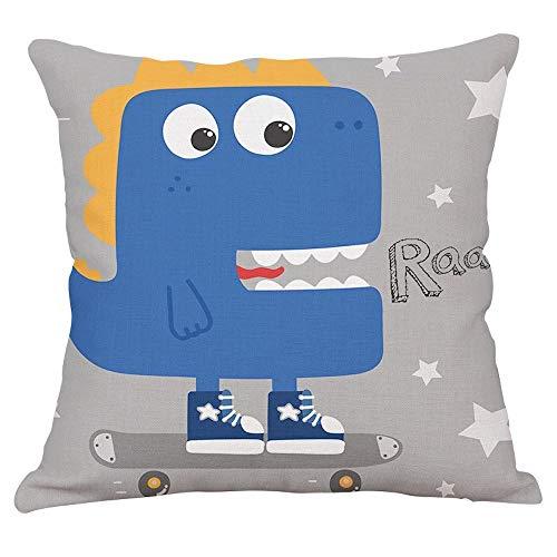 EZB Creative, Fun, Decorative, Themed Cushion Covers (Dinosaur Grey)