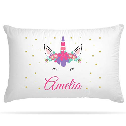 Shopsharks PERSONALISED Cushion Cover Pillow Case Kids Unicorn Gift for Girls and Boys