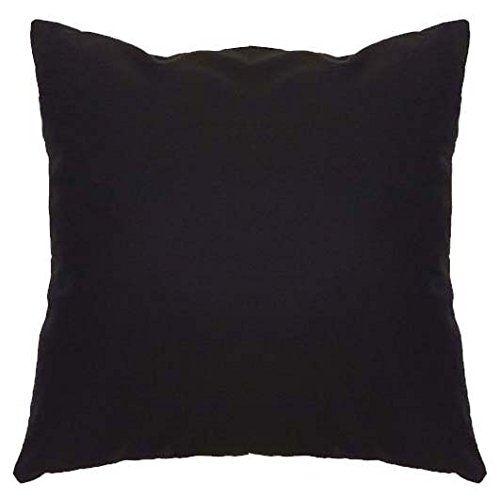Saffron Floor Cushion Cover Decorative Extra Large Pillowcase Black 28x28 inch (70x70 cm) Cotton Removable COVER, Insert not included