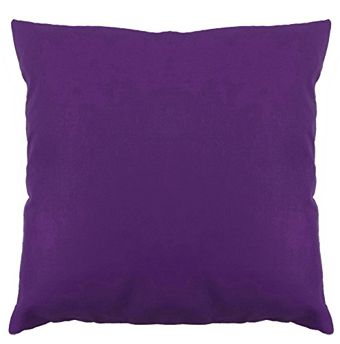 Saffron Floor Cushion Cover Decorative Extra Large Pillowcase Purple 32x32 inch (80x80 cm) Cotton Removable COVER, Insert not included