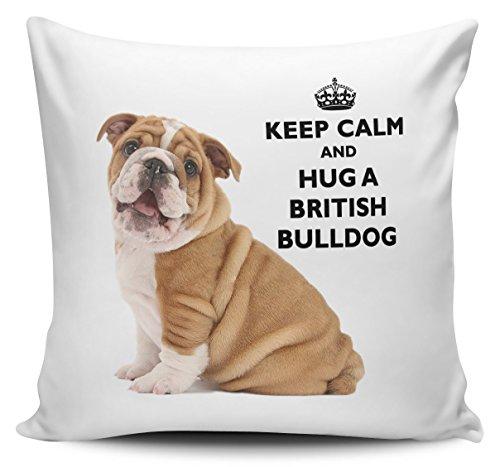 Keep Calm And Hug A British Bulldog Cushion Cover