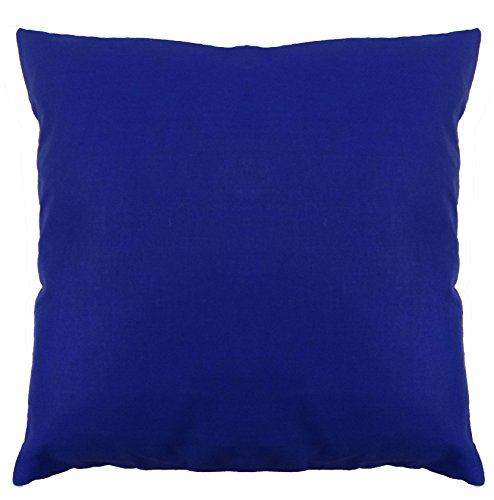 Saffron Floor Cushion Cover Decorative Extra Large Pillowcase Blue 32x32 inch (80x80 cm) Cotton Removable COVER, Insert not included