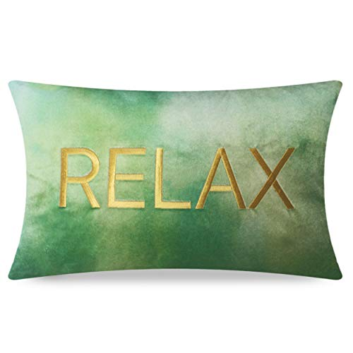 Relax Embroidered Cushion Cover (size: 30 x 50 cm)