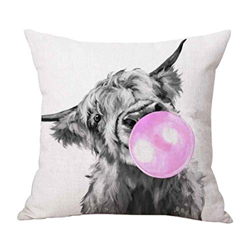 Verliked Home Art Highland Cow Cattle Linen Pillow Case Cushion Cover Sofa Bed Car Decor Home Decoration 2