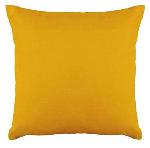Floor Cushion Cover Decorative Extra Large Pillowcase Saffron 28x28 inch (70x70 cm) Cotton Removable COVER, Insert not included