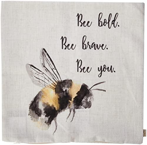 Evans Lichfield Bee You Cushion Cover, White, 43 x 43cm
