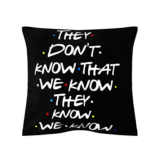 szxbogs 18x18 inch Funny Home Decor Polyester Printed Pillow Cases Cushion Cover Friends TV Show Pillow Covers(7)