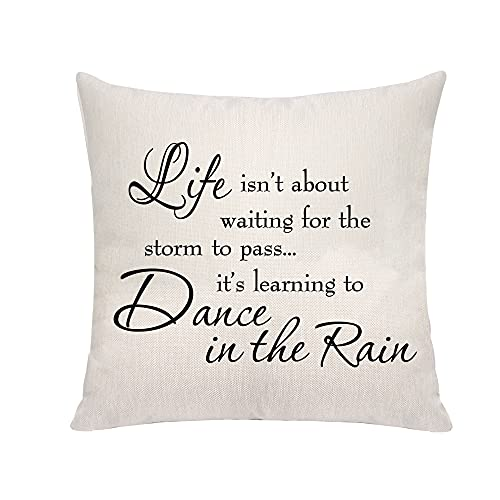 VAVSU Inspirational Quote Linens Square Shape Pillow Covers Pillowcases Pillow Protectors Sofa Bedding Decoration For Christmas Birthday Graduation Presents