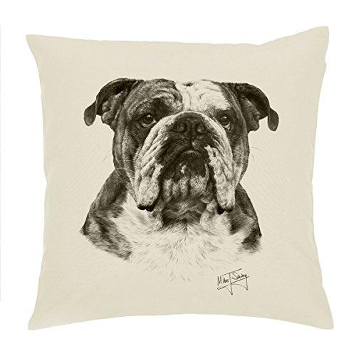 English Bulldog/British Bulldog, Dog Cushion Cover/Pillow 18'' Mike Sibley Design