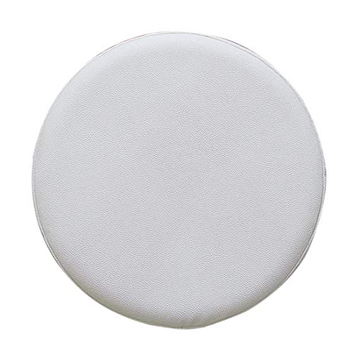 Nati Bar Stool Seat Cover Waterproof Chair Seat Cover Slipcovers Thick Soft Stool Chair Protector Cover Round Barstool Cushion Cover for Wedding Restaurant Dining White 40cm