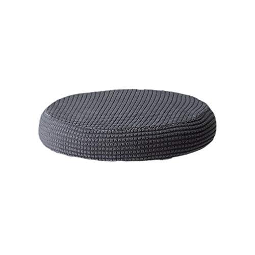 Vosarea Breathable Round Bar Stool Cover Elastic Padding Cushion Protectors(Dark Gray)