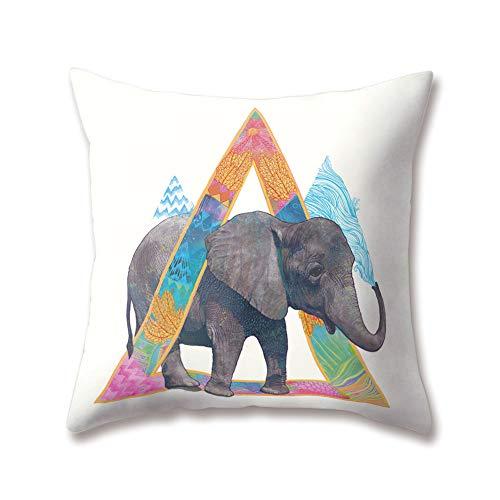 Hengjiang WEIANG Soft Plush Animal Cushion Covers Creative Cartoon Elephant Printing 18x18/45x45cm Throw Soft Plush Pillow Cases For Home Sofa Bed Decorative