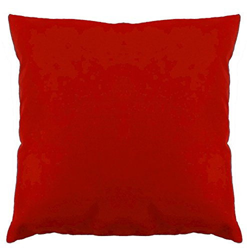Saffron Floor Cushion Cover Decorative Extra Large Pillowcase Red 28x28 inch (70x70 cm) Cotton Removable COVER, Insert not included