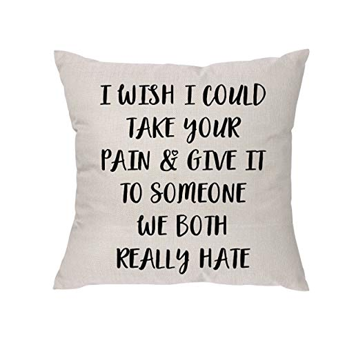 Lecent Get Well Soon Gifts for Women - Funny Get Well Gifts, Thinking of You Gifts Chemotherapy Grieving Condolences Divorce Cancer Gifts for Women Her Friend - Throw Pillow Covers