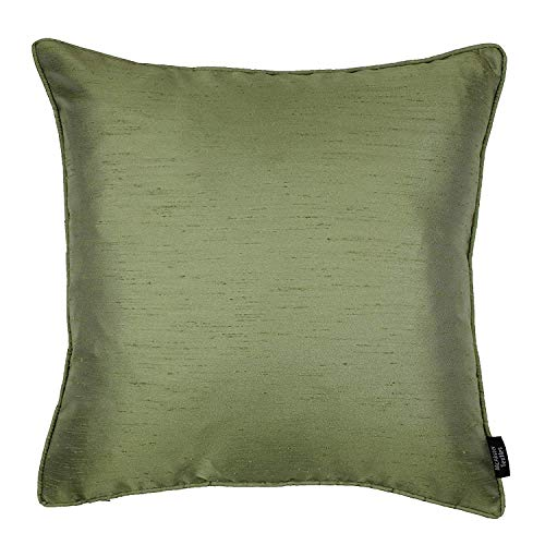 McAlister Textiles Luxury Textured Faux Silk Cushion Covers - Choice of 12 Colours For Bedroom or Living Room Accessories - Green Colour 43x43cm Rocco Range