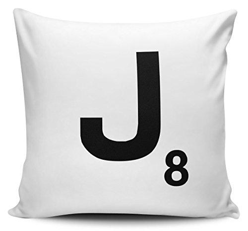 Alphabet Letter Scrabble Cushion Cover - Letter J