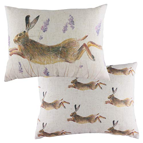 Evans Lichfield Leaping Hare Cushion Cover, Multi, 43 x 33cm