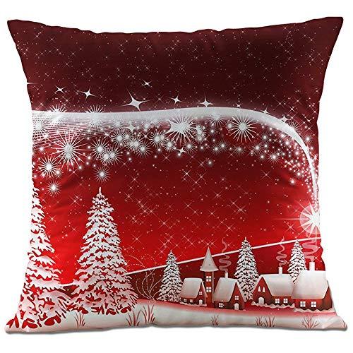 Hangood Soft Plush Throw Pillow Case 40cmx40xm XMAS Cushion Covers Christmas Tree 16x16 inches