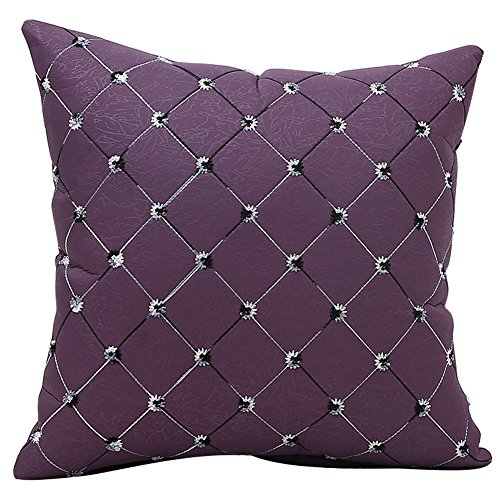 JOTOM Imitation Diamond Pattern Throw Pillow Case,Cushion Cover for Outdoor Home Decorative Couch Sofa,45x45cm (Purple)