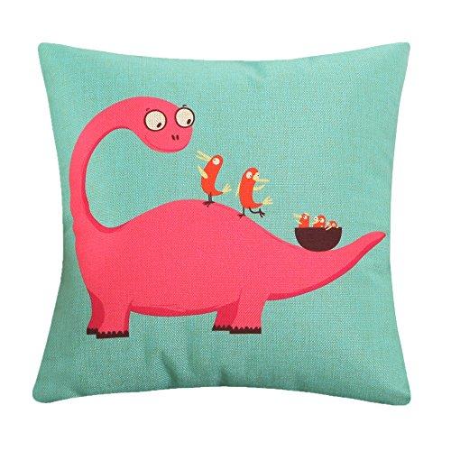 MF 45x45cm Cartoon Animal Dog Pattern Cushion Covers For Home Sofa Decor Children Room Decorative (Dinosaur)