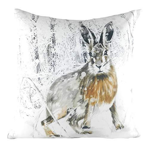 Evans Lichfield Christmas Hare Cushion Cover, Multi, 43 x 43cm