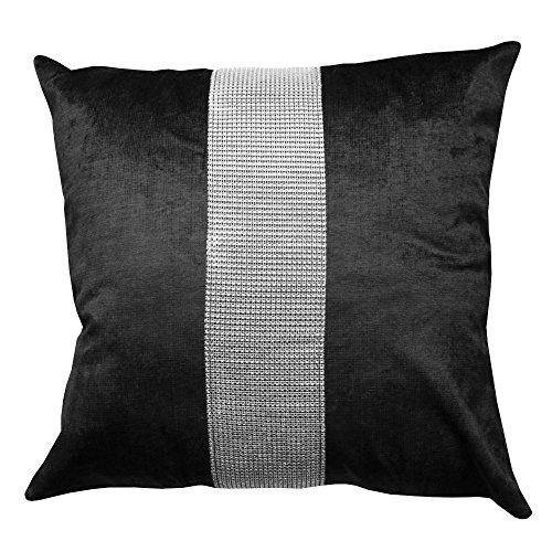 Emma Barclay Éclat Cushion Cover Black, 100% Polyester, 17x17 (43x43cm), ECLACCBLK