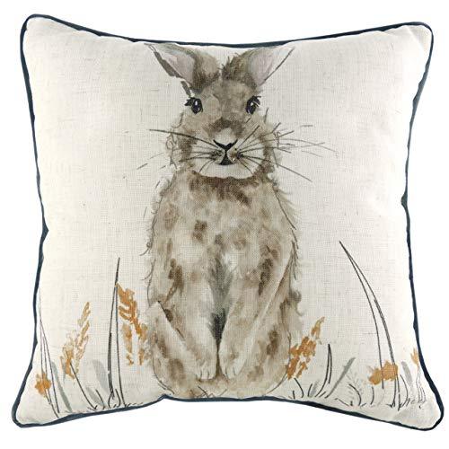 Evans Lichfield Oakwood Hare Cushion Cover, Multi, 43 x 43cm