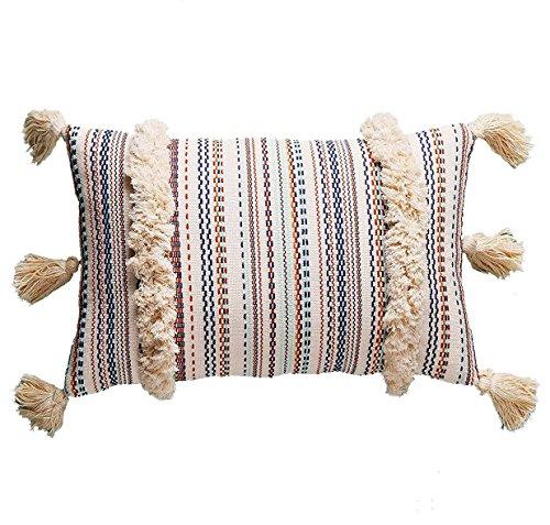 Decorative Pillow Throw Boho Pillow Tassel Sham Couch Pillowcase Cushion Covers ,12'X20' (Multi)