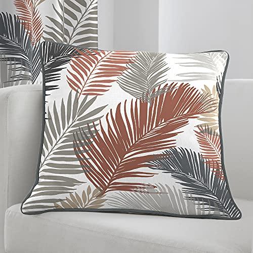 Fusion - Tropical - 100% Cotton Cushion Cover - 43 x 43cm in Copper