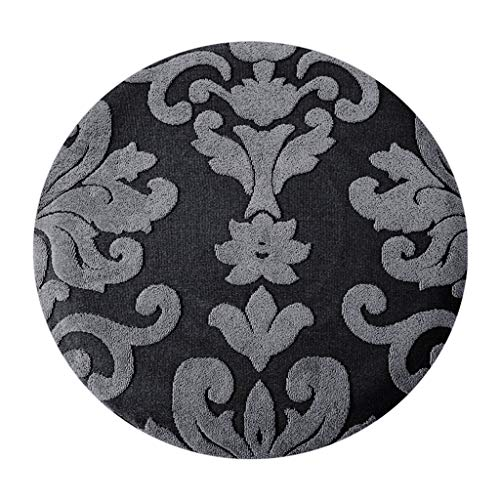 perfk Bar Stool Covers Elastic Bar Round Chair Covers Washable Stool Cushion Slipcover for Home Bar Hotel Use, 11-14 Inch Dia Stool - Black