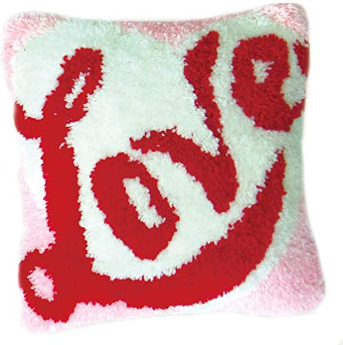 NZHK Latch Hook Kits Beautifully Coarse Wool Cross Stitch for Throw Pillow Cover Sofa Cushion Cover Embroidery Shaggy Decoration 18X18 Inch