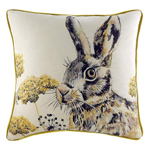 Evans Lichfield Elwood Hare Cushion Cover, Multi, 50 x 50cm