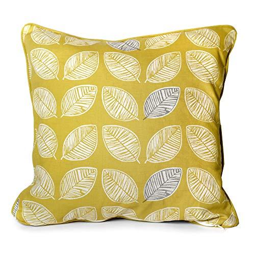 Fusion Delft-100, 100% Cotton, Ochre, Cushion Cover