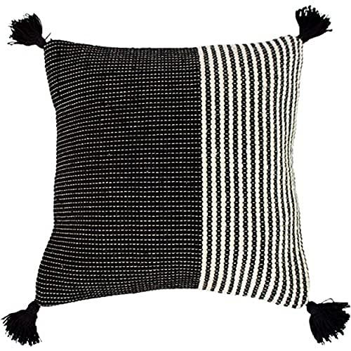 Riva Home Apache Cushion Cover, Ivory/Black, 50 x 50cm (20' x 20')