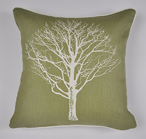 Fusion - Woodland Trees - 100% Cotton Cushion Cover - 43x43 cm in Green