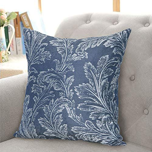 The Textile House Annabelle Floral Cushion Cover (Single) - 18' x 18' - Finished In Navy