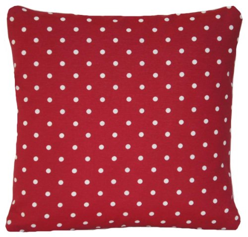 Arcobaleno London Red Cushion Cover Polka Dots Pillow Case Shabby Chic 14' x 14'