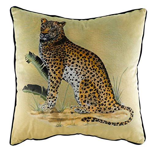 Evans Lichfield Kibale Leopard Cushion Cover, Polyester, Multi, 50 x 50cm
