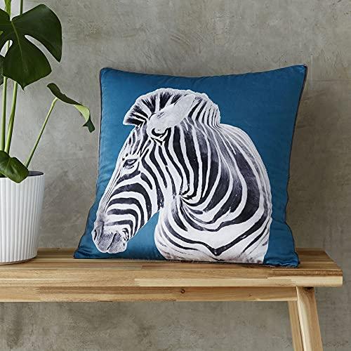 Catherine Lansfield Zebra 55X55Cm Cushion Cover Teal