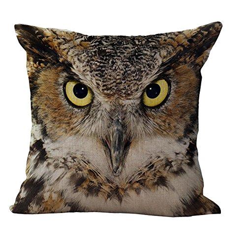Hengjiang WEIANG Animal Face Sofa Cushion Cover Home Pillowcase Soft Decorative Pillow Cover (Owl 02)