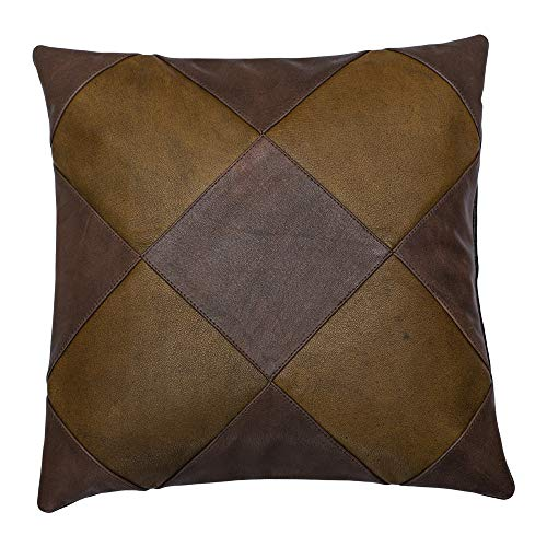 Charlie LONDON Genuine 100% Leather Sofa Cushion Covers Collection- Home Decor Real Leather Cushions UK Next Day Delivery UK Store (014, 16 x 16 in)